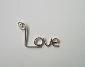 925 Sterling Silver Love Word Necklace