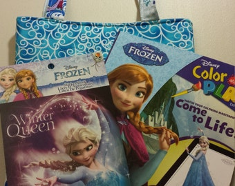 Quilted Disney Crayon Tote Gift Set - Frozen