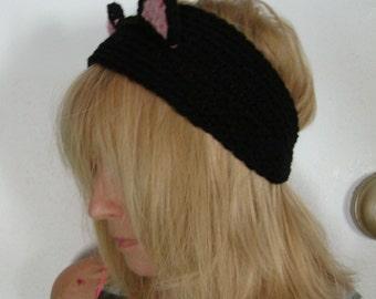 Crochet Cat Ears Head Band