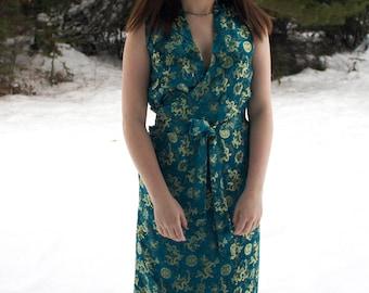Vintage Cheongsam Wrap Dress
