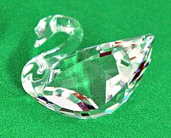 Vintage SWAROVSKI 1995 RENEWAL SWAN Lead Crystal Figurine 003 003 802 Designer 'Anton Hirzinger' Trademark 'Swan' No Box Excellent Condition