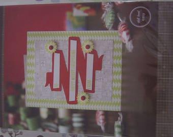 SET OF 8 CARDS / ENVELOPES KRAFT 15 X 15 CM