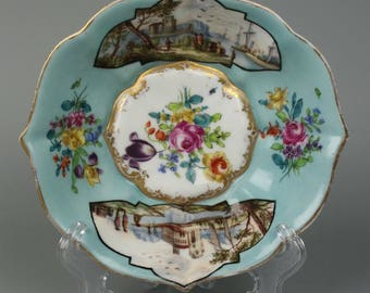 Antique Helena Wolfson after Meissen hand painted Bowl