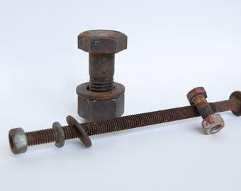 Rusty Bolts - Assemblage Art Supplies - Found Objects