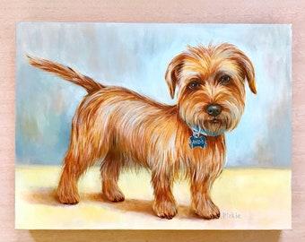 Custom canvas Oil Dog Painting, Custom Pet Portrait, Pet Painting from Photo, Pet Portrait Painting, Pet Oil Painting