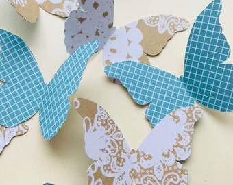 15 Double Sided Butterfly Die Cuts, Paper Butterfly, Baby Shower Decor, Butterfly Decorations, Wedding Decor