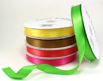 "Satin Ribbons 7/8"" (spool of 100 yards)  - ** FREE SHIPPING **"