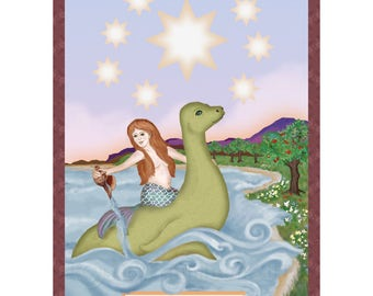 The Star Cryptozoology Tarot Card Print