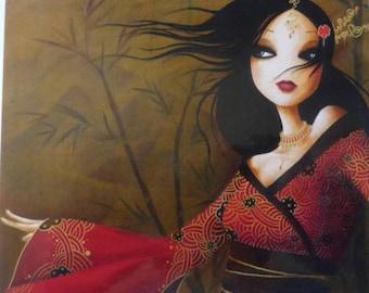Mistrigri bamboo art card