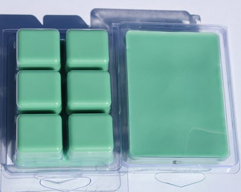 SALE! Aloe & Green Clover Wax Melts Clamshell Free Shipping, Highly Scented Wax Tarts, Soy/Para Blend Wax, Candle Wax Melts