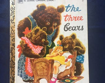 The Three Bears, a Little Golden Book #47, 37th printing 1978, Vintage Collectible a Little Golden Book, Vintage Children's Story Book