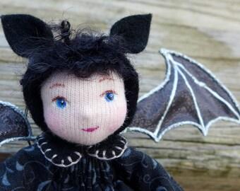 Miniature Cloth Doll - Bat Pixie