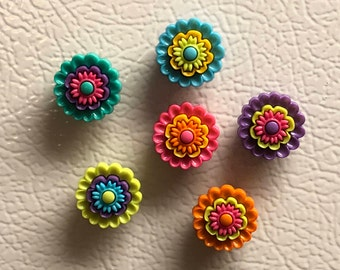 Magnets flower multicolored lightweight refrigerator magnets kid magnets layered
