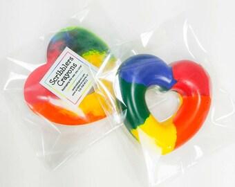 Heart Ring muticolor crayon by Scribblers Crayons