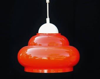 Kronleuchter Orange ~ Italienischer sputnik kronleuchter in schwarz gold und orange von