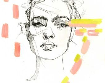 Natalia- Fashion Illustration/ Art Print