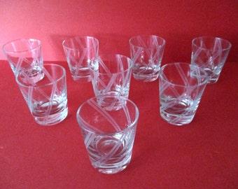 Set of (8) Art-Deco  Glass Tumblers