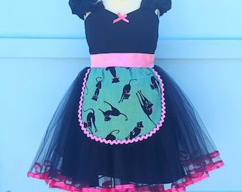 CAT costume, girl Cat costume, Cat costume for toddler, black cat costume, kitten costume, black cat tutu dress for girls, 18/24m, sale