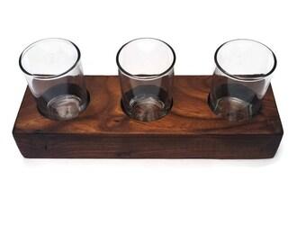 Beer flight tasting tray, whiskey tasting, whiskey flight, Wood beer flight board,  handmade, groomsmen gift