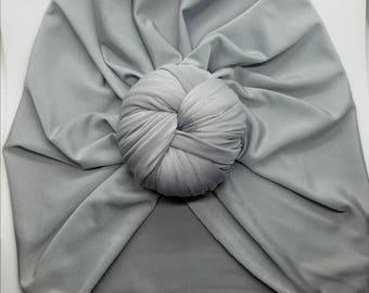 Silver Top Knot Headwrap