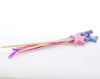 Magic Wand - Fairy Wand - Princess Wand - Star Wand -Waldorf - Girls