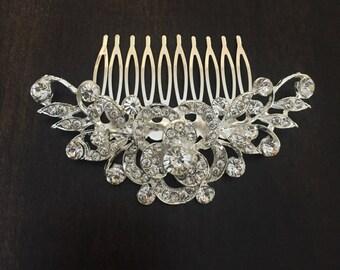 Vintage Inspired rhinestone bridal hair comb,sparkly crystal hair comb, wedding hair comb, bridal hair accessories, wedding hair accessories