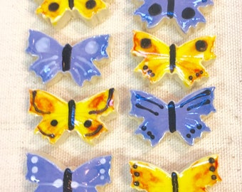 Mini Butterflies Handmade Ceramic Mosaic Tile Pack