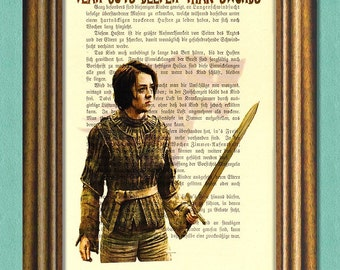 ARYA STARK Game of Thrones Dictionary Art Print - Quotes- Antique Book Page Recycled -