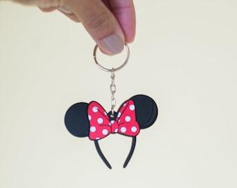 Rock the Dots Keychain, Minnie Mouse, Minnie Ears Keychain, Disney Keychain, Keychain, Disney Inspired, Cute Keychain PVC Keychain