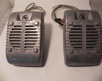 original matching pair of vintage Eprad drive-inn speakers