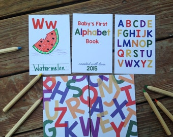 Instant Download- DIY Alphabet Book. Primary Colors. Baby Shower Activity Game. Baby Book. Do It Yourself ABC Cards. Book Shower Neutral.