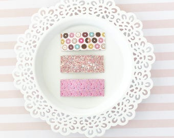 Donut Snap Clips, Sprinkle Snap Clip, Covered snap clips