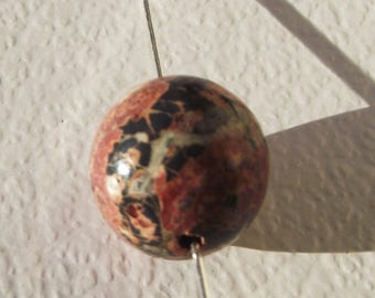 Leopard skin Jasper. Round beads 6 mm. Set of 3.