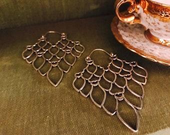 Pendant earrings-Indian style