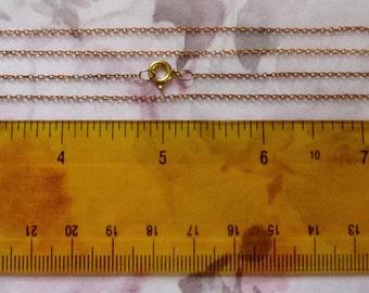 10 pcs. vintage raw brass dainty chains w clasps - f2636