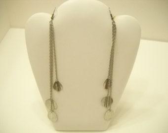 """Vintage 6 1/2"""" Silver Tone Pierced Earrings (1952)"""