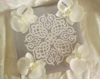 Customize silver/grey Wedding guest book