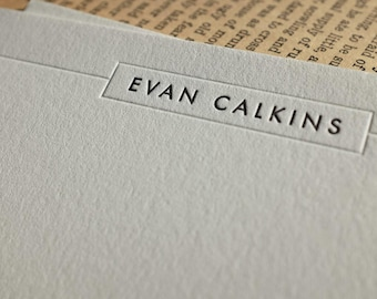 The Kennedy Notecard – Custom Letterpress Printed Notecard 50ct
