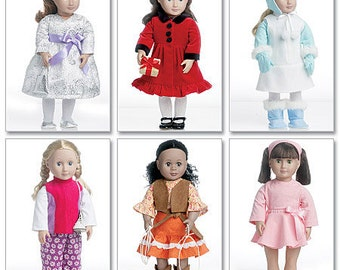 """McCalls 6257, Clothes for 18"""" Doll, Doll Clothes pattern, New Uncut sewing pattern, 18"""" Doll American Doll Clothes pattern"""