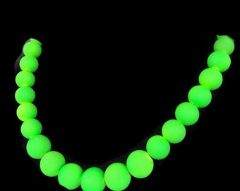 Neon Green Jewelry Summer Time Necklace Trendy Summer Jewelry Summer Jewelry Neon Green Necklace Neon Jewellery Neon Necklace