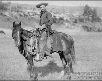 Poster, Many Sizes Available; American Cowboy, C. 1888