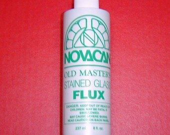 Copper Foil Solder FLUX - Novacan Old Masters . 8 oz. Water soluable, so easy to clean. . BEST VALUE .