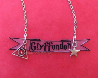 Necklace harry potter Gryffindor Wizard Magic original
