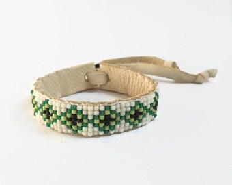 Beaded Bracelets for Women - Green - Beaded Bracelets - Seed Bead