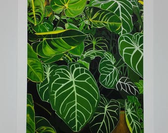 A2 Size limited Edition Print - Tropical Leaves - Wintergarden