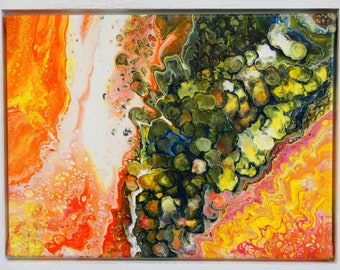 Mutation is made by AjAspinall AbstractArt created on canvas one-off original unique painting signed Certificate of Authenticity