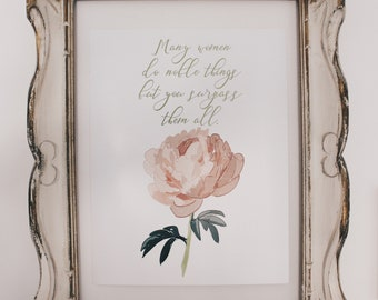 Mothers Day Print - Proverb 31 verse