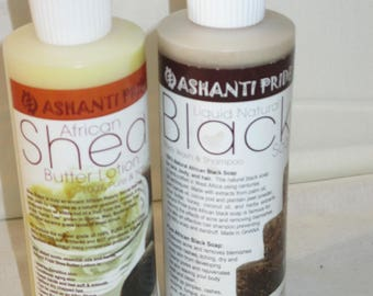 Pure African Black Soap or Pure African Shea Butter 8oz