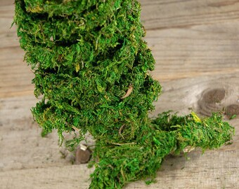 Moss garland vine 60 foot roll-Preserved REAL moss vine