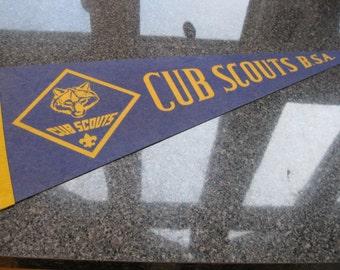 Vintage Cub Scouts Pennant